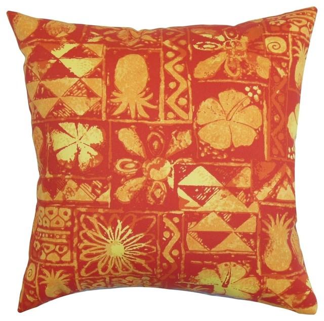 Gleda Floral Pillow Red 18
