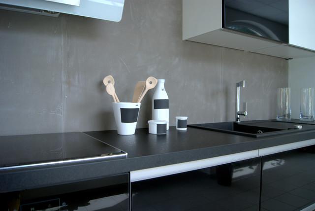 k chenspiegel mit xstone bauhaus look k che other. Black Bedroom Furniture Sets. Home Design Ideas