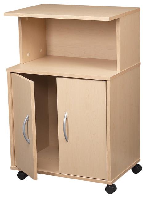 Maple 3 Shelf Laminate Kitchen Cart Contemporary