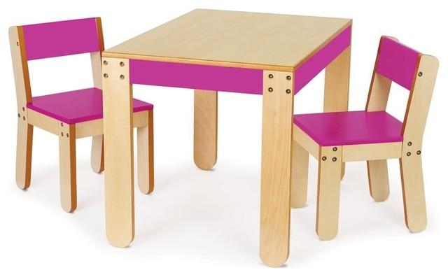 P 39 Kolino Little One 39 S Table Chair Set Modern Kids