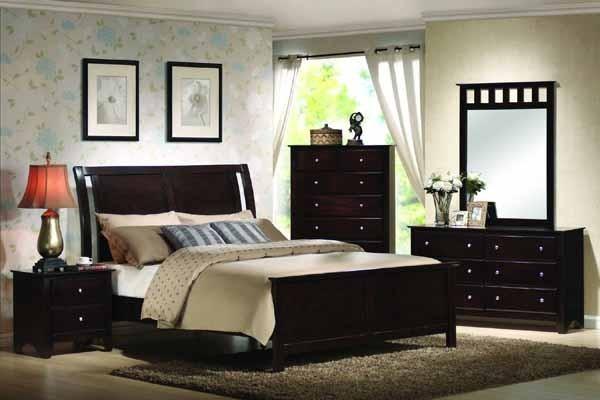 yuan tai furniture torino 4 piece espresso queen bedroom