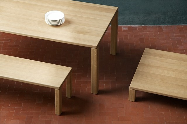 Element Solid European Oak Dining Table 200 or 240cm  : modern dining tables from www.houzz.co.uk size 640 x 426 jpeg 50kB