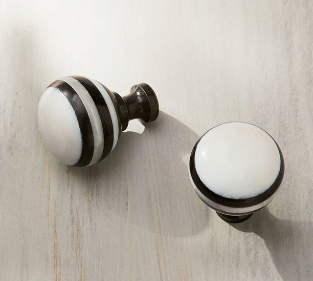 Black and White Knob - Contemporary - Cabinet And Drawer Knobs - Sacramento - by Pottery Barn