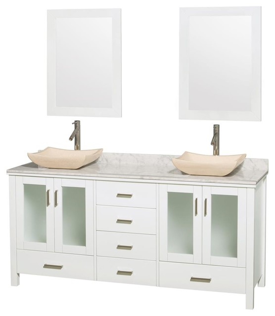 Eco Friendly Double Bathroom Vanity With 6 Drawers Contemporary Bathroom Vanities And Sink