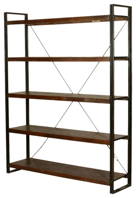 industrial 79 tall mango wood iron free standing wall. Black Bedroom Furniture Sets. Home Design Ideas