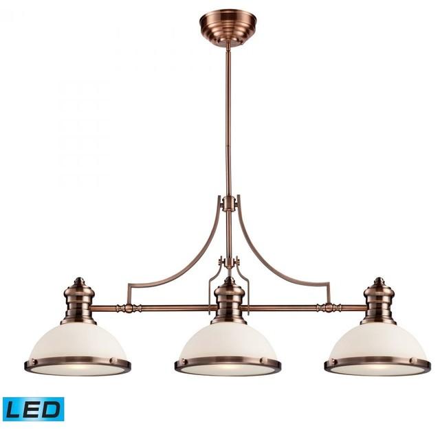 Light Antique Copper Island Light contemporary kitchen island lighting