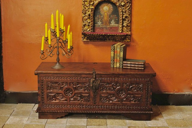 Carved Spanish Colonial Dowry Chest Mediterranean Furniture Other By Mediterrania