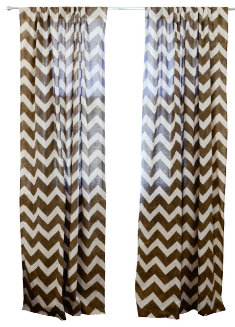 chevron window curtain taupe 84 bauhaus look. Black Bedroom Furniture Sets. Home Design Ideas