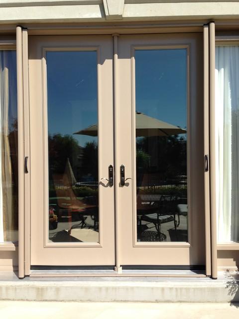 French door retractable screen contemporary screen for Retractable sliding screen door