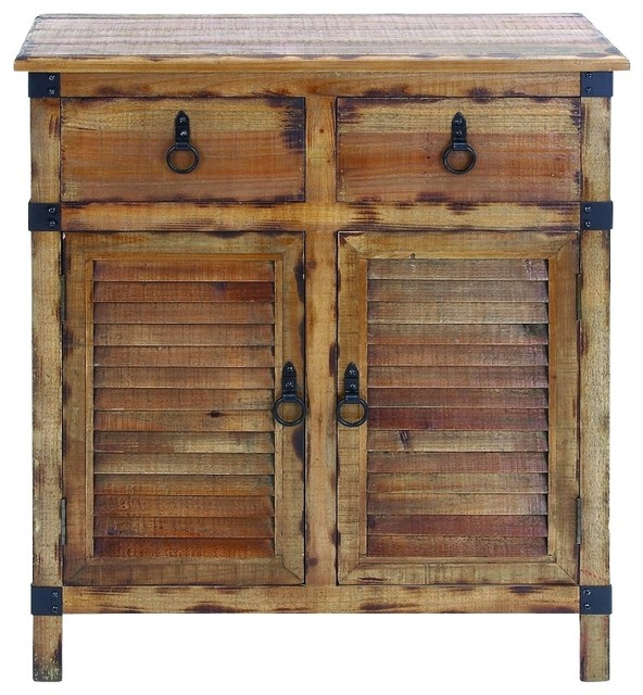 Natural Wood Shutter Cabinet - Rustic - Accent Chests And Cabinets ...