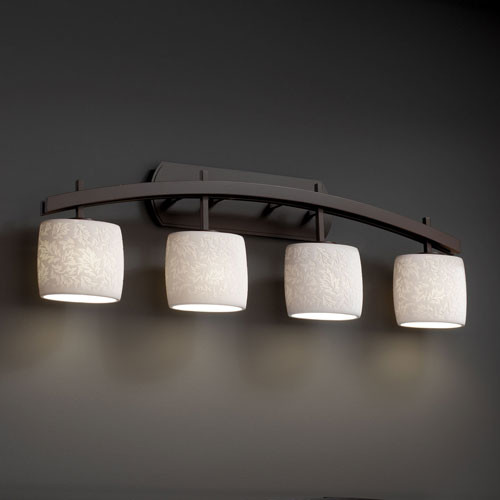 Bathroom Vanity Lights Contemporary : Limoges Archway Four-Light Dark Bronze Bath Fixture - Contemporary - Bathroom Vanity Lighting