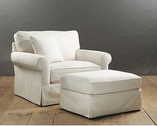 Baldwin Upholstered Club Chair And Ottoman Traditional