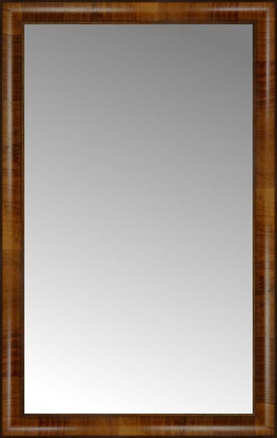 23 x 36 belmont light brown custom framed mirror for Mirror 42 x 36