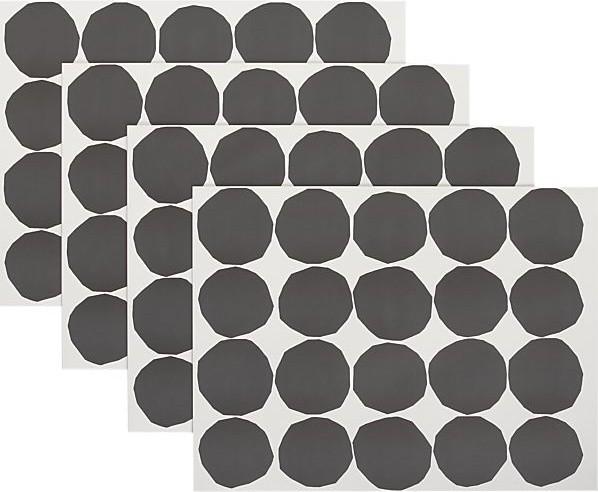 marimekko kivet black and white paper placemats modern placemats by crate barrel. Black Bedroom Furniture Sets. Home Design Ideas