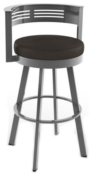 Modern swivel stool counter height 26 quot modern bar stools and counter