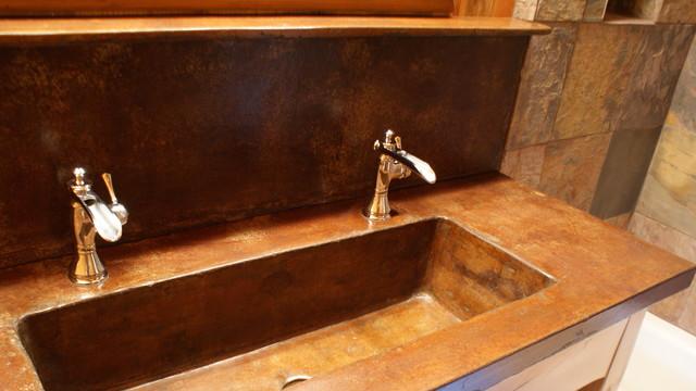 Oval bathroom mirrors brushed nickel - Sinks And Vanities Rustic Bathroom Sinks Charlotte By Bdwg
