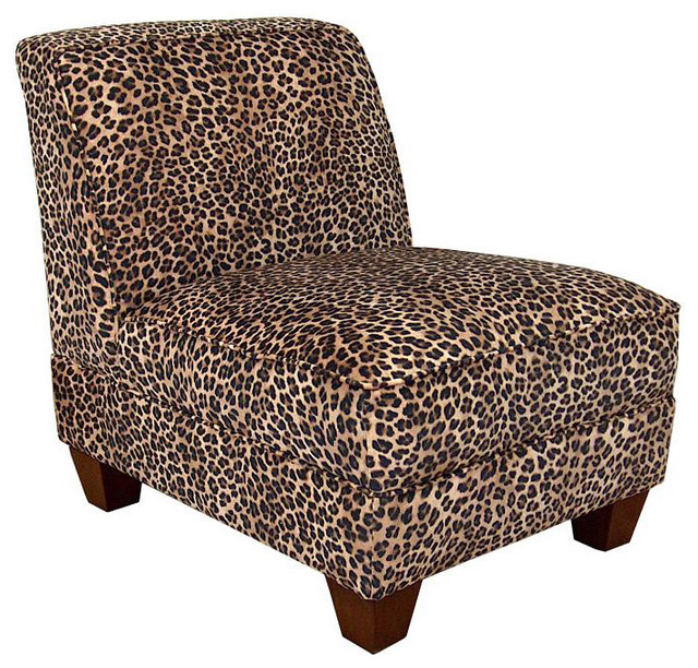 Chelsea Home Sally Armless Chair In Leopard Traditional