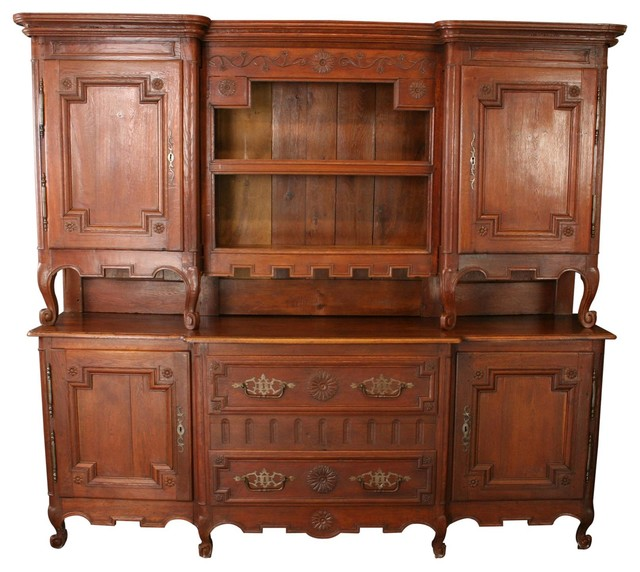 Consigned Large Antique Buffet Server 1800 French - Farmhouse - Buffets And Sideboards - by ...