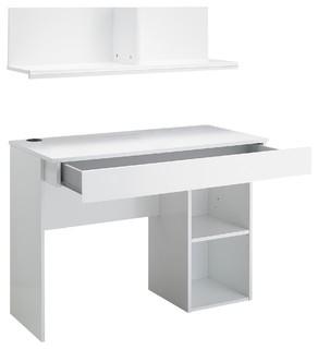jasper bureau tiroir avec sur meuble blanc contemporain meuble bureau et secr taire par. Black Bedroom Furniture Sets. Home Design Ideas