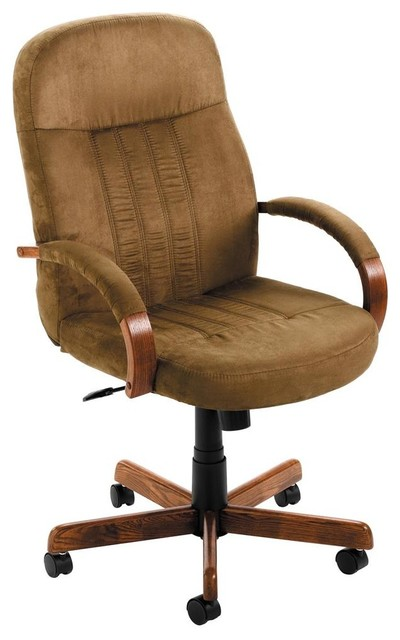 Desk Chair In Dark Oak Contemporary Office Chairs By ShopLadder