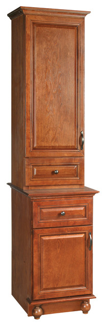 """Montclair 18""""x14""""x49 Linen Top Chestnut Glaze Finish - Traditional - Bathroom Cabinets And ..."""