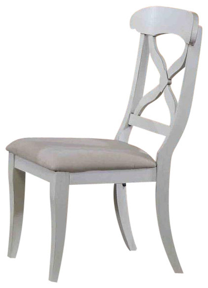 Andrews Dining Chair Antique White Set Of 2 Farmhouse Dining Chairs B