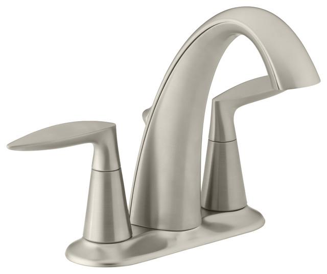 KOHLER K-45100-4-BN Alteo Centerset Bathroom Sink Faucet ...