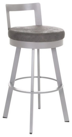 Counter Height Low Back Stools : Low-Back Swivel Stool, Bar Height modern-bar-stools-and-counter-stools