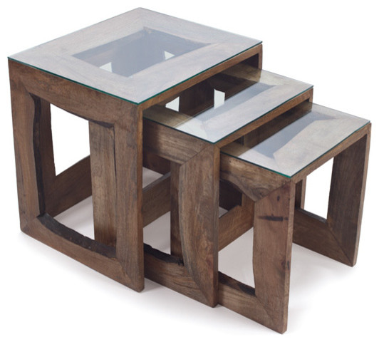 Edina Nesting Tables Rustic Coffee Table Sets By Autumn Elle Design