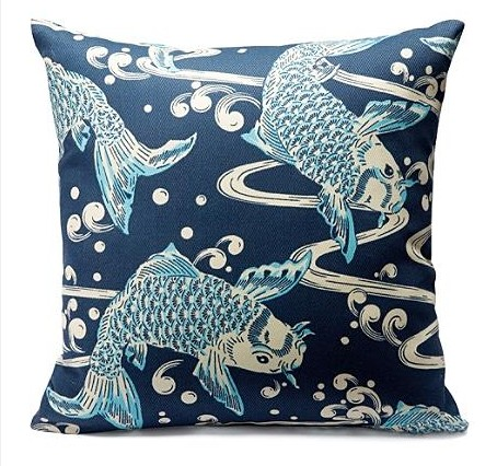 Koi fish pillows by grandin road for Koi fish pillow