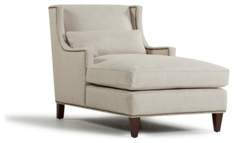Fabric maureen chaise traditional indoor chaise lounge for Chaise furniture toronto