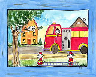 rescue heroes ready to hang canvas kid 39 s wall decor 8 x 10 modern kinderzimmer wanddeko. Black Bedroom Furniture Sets. Home Design Ideas