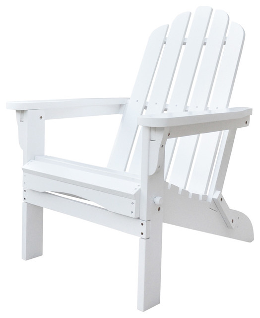 Marina Adirondack Folding Chair White Beach Style Adirondack Chairs