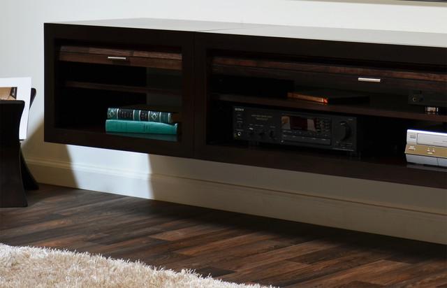 Contemporary Wall Mounted TV Stand - ECO GEO Espresso