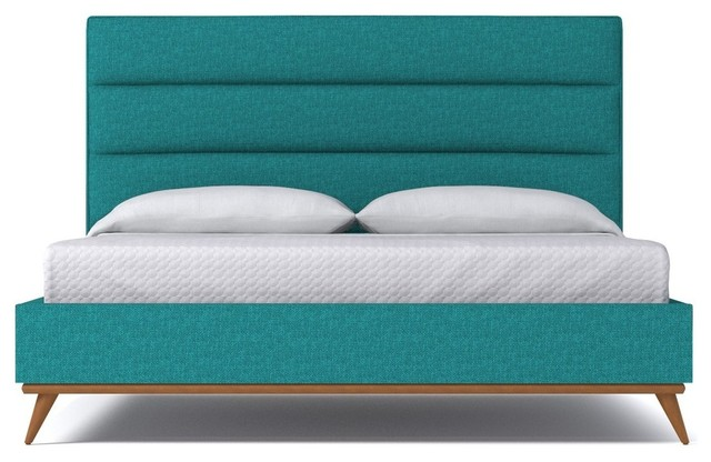 Shop Houzz Aptb Cooper Upholstered Bed From Kyle Schuneman Ocean