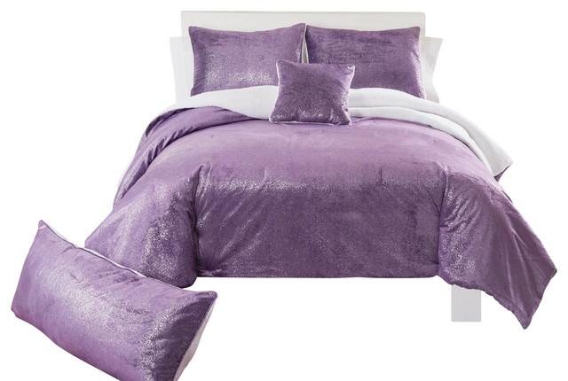 Sparkle Mink Purple Comforter Set