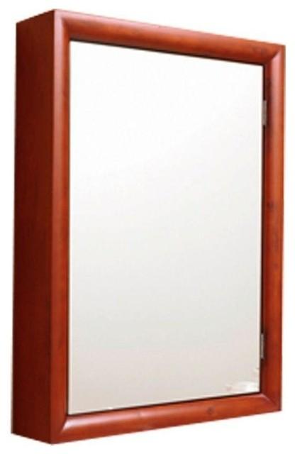 "Surface-Mount Medicine Cabinet, Cherry Wood Finish, 22""Wx30""Hx5""D medicine-cabinets"