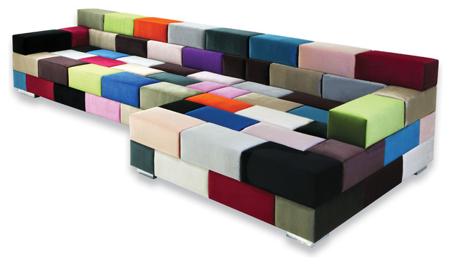 Multi Colored Sectional Sofa Contemporary Sectional Sofas