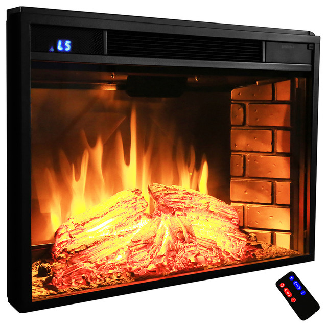 Akdy Electric Fireplace Firebox Heater Contemporary Indoor Fireplaces By Akdy Home Improvement