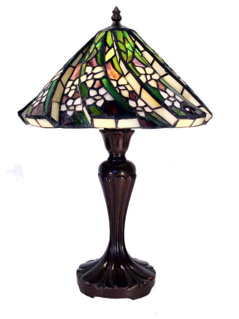 Tiffany Style White Flower Table Lamp Traditional