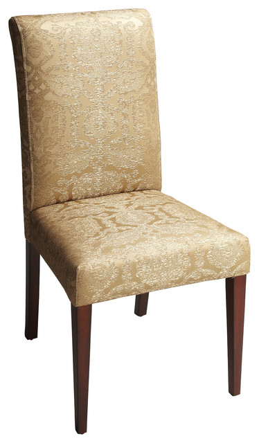 Parsons Chair Gold Damask Fabric Contemporary Dining  : contemporary dining chairs from houzz.co.uk size 374 x 640 jpeg 61kB