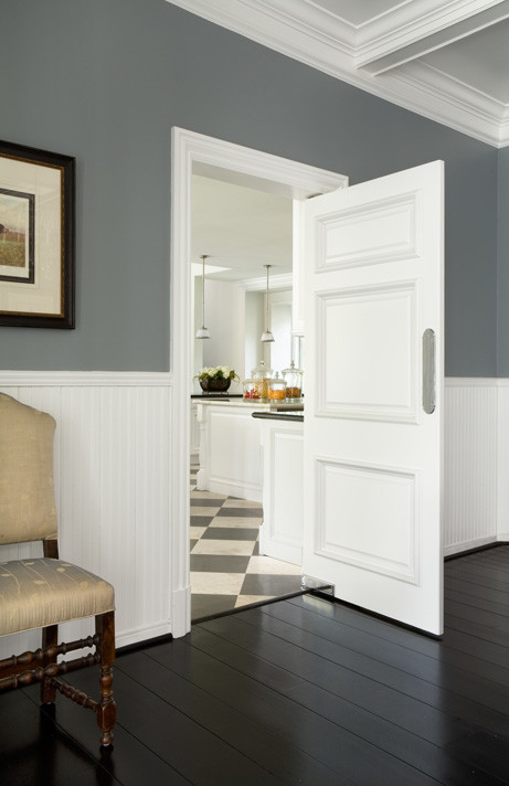 I Love The Wall Color With The White Trim And Dark Floors