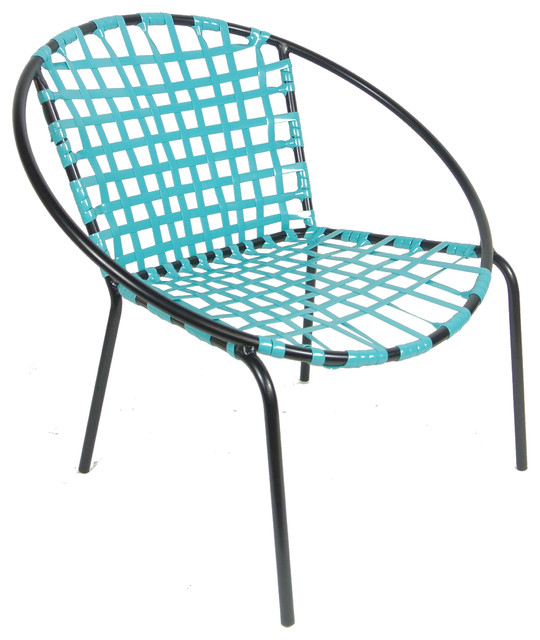 Mid Century Patio Chair Hoop Design Turquoise Midcentury Patio Furniture
