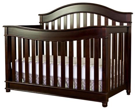 Evolur Hampton 5 In 1 Lifestyle Convertible Crib Espresso
