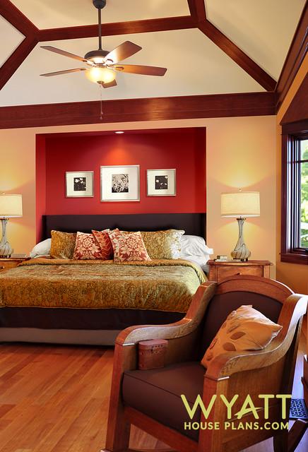 Master Bedroom In Craftsman Style Home Craftsman Bedroom Indianapolis By Wyatt Drafting