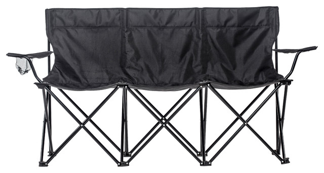 triple style tri camp chair with steel frame
