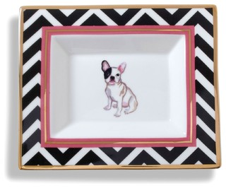 French Bulldog Ceramic Rectangle Plate Eclectic Home
