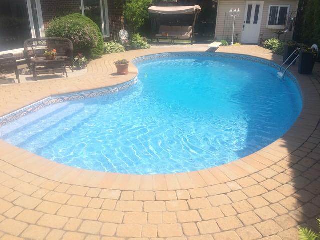 Toile aquafab mosaique corail piscine poseidon qc for Piscine design mosaique