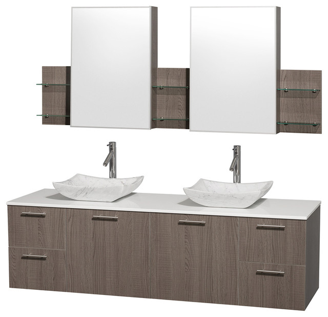 Carrera Marble Sink Vanity with Medicine Cabinet ...
