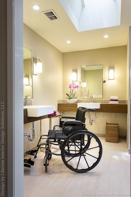Accessible Barrier Free Aging In Place Universal Design Bathroom Remodel Modern Austin